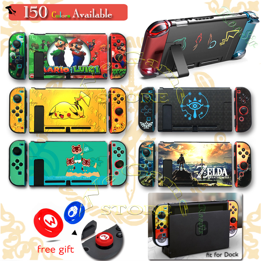 Nitendo Nintend Switch Case Nintendoswitch Console Housing Shell Protector Box Cover   2 Caps for Nintendo Switch Accessories