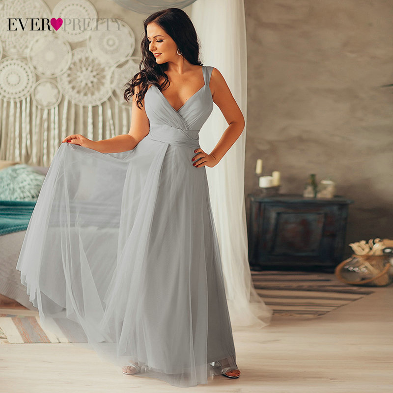 Bridesmaid-Dresses Blush Long-Dress Ever Pretty Lavande Wedding-Party Pink Elegant Plus-Size