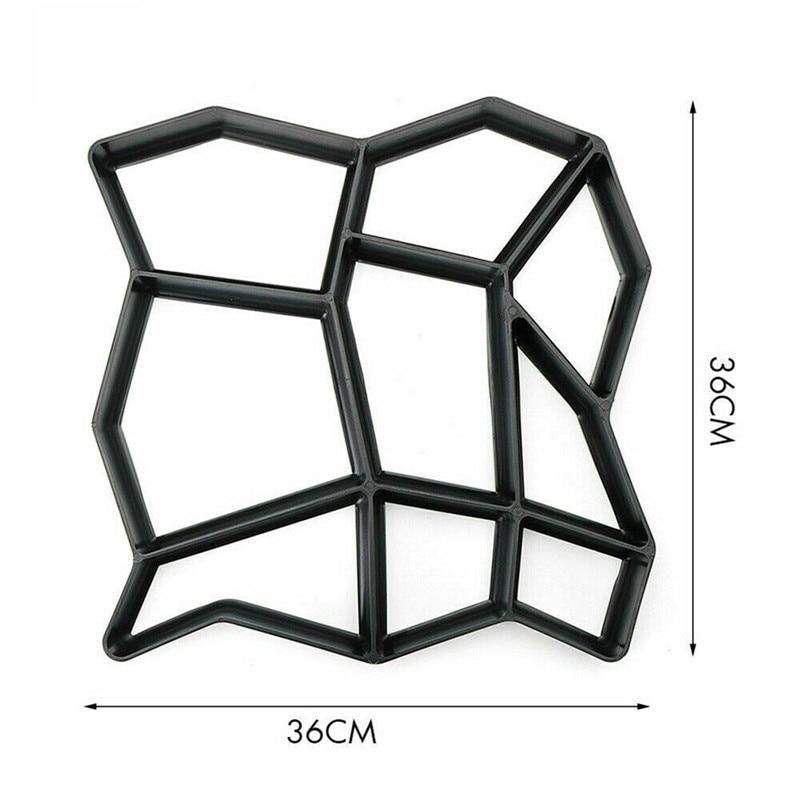 cheapest Garden DIY Plastic Mold Path Pavement Model Concrete Stepping Stone Cement Brick Maker HYD88