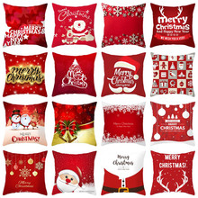 Microfine Christmas Throw Pillow Cover Cushion Cover Decorative Pillows Cover Soft Case For Living room Sofa soft decorative pillows pillow case square home decor velvet cushion cover for living room bedroom sofa living room decoration