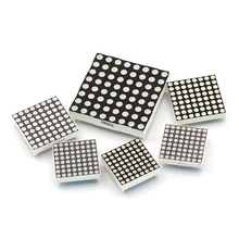 8*8 LED Dot Matrix Highlight 5.0mm Red And Green Light Dual Color 16/24 Feet 60x60mm Common Anode Electronic Component