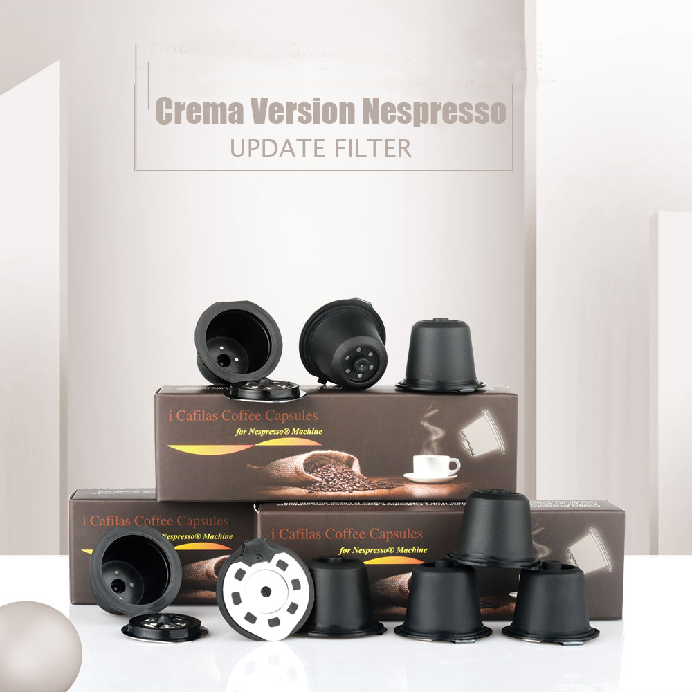 New Version Crema Nespresso Stainless Steel Refillable Reusable Coffee Capsule Coffee Tamper Coffee Pod For Nespresso Machine