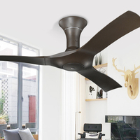 54 inch Ceiling Fan Lamp with Remote Control Modern Nordic ABS Blades Attic Without Light Dining Room Fan Lighting 220v