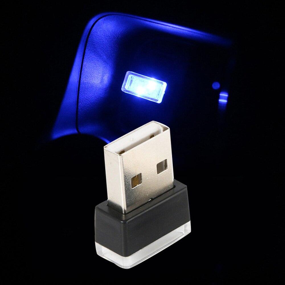 Портативный USB СВЕТОДИОДНЫЙ ночной Светильник для салона автомобиля с внешней атмосферой, декоративная лампа