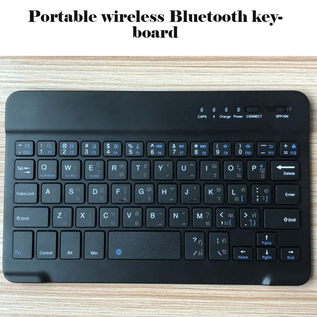 Slim Portable Mini Wireless Bluetooth Keyboard For Tablet Laptop Smartphone iPad Support IOS Android Universal Wireless Keyboard image