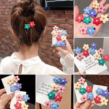 2019 New 1PC Sweet Candy Color Girls Hairpins two Small Flowers Duckbill Plastic Hair Clip Clamp Barrettes Accessories