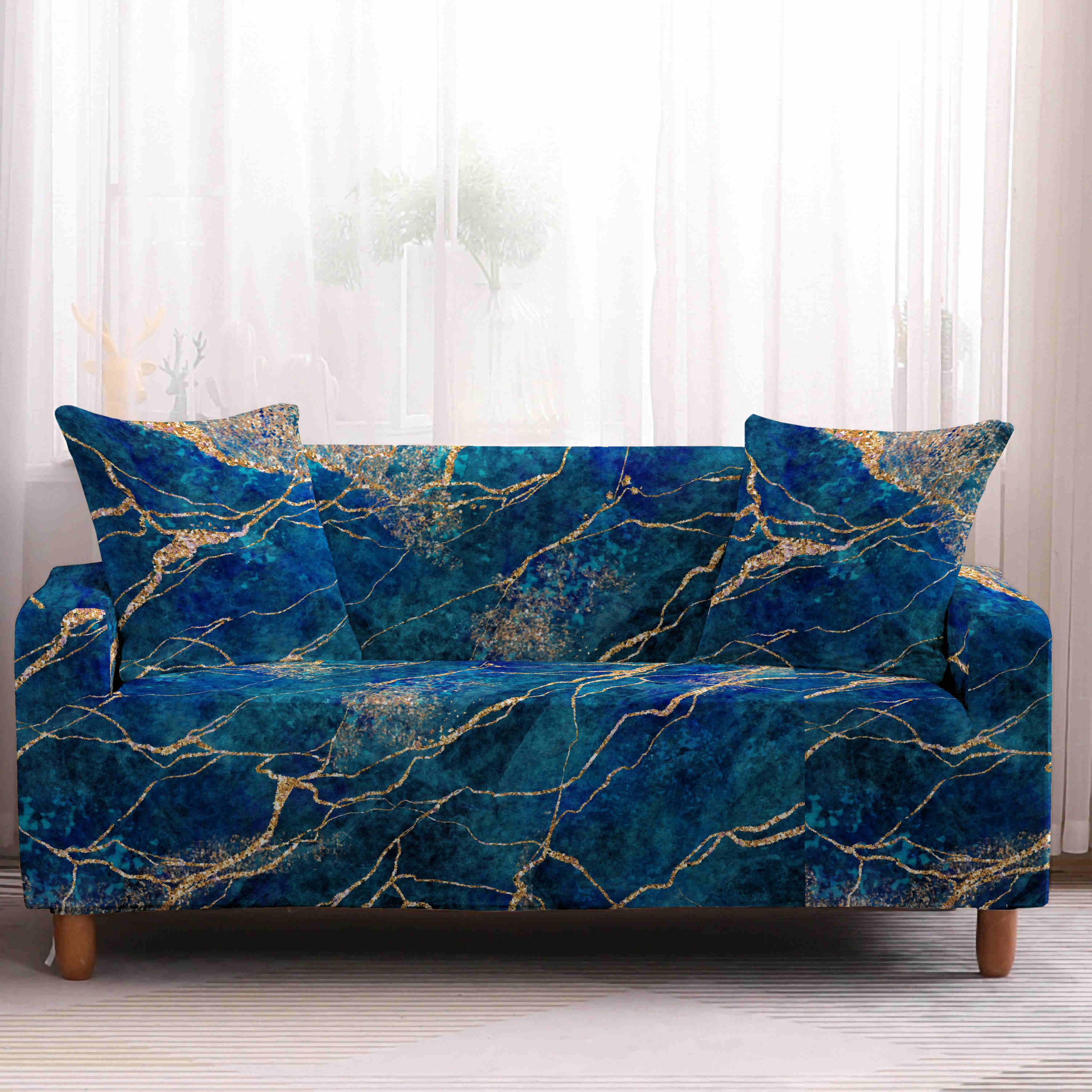 Stretch Sofa Covers 1 2 3 4 Seater Slipcover Couch Cover Protector Home Marble