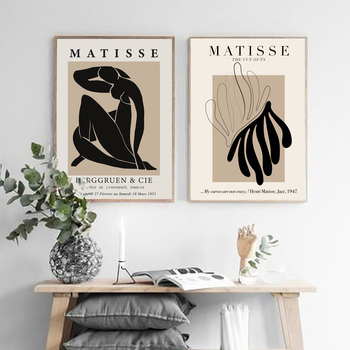 FLORID Henri Matisse Abstract Painting Minimal Illustration Wall Art Vintage Poster Beige Wall Pictures Retro poster kraft paper image