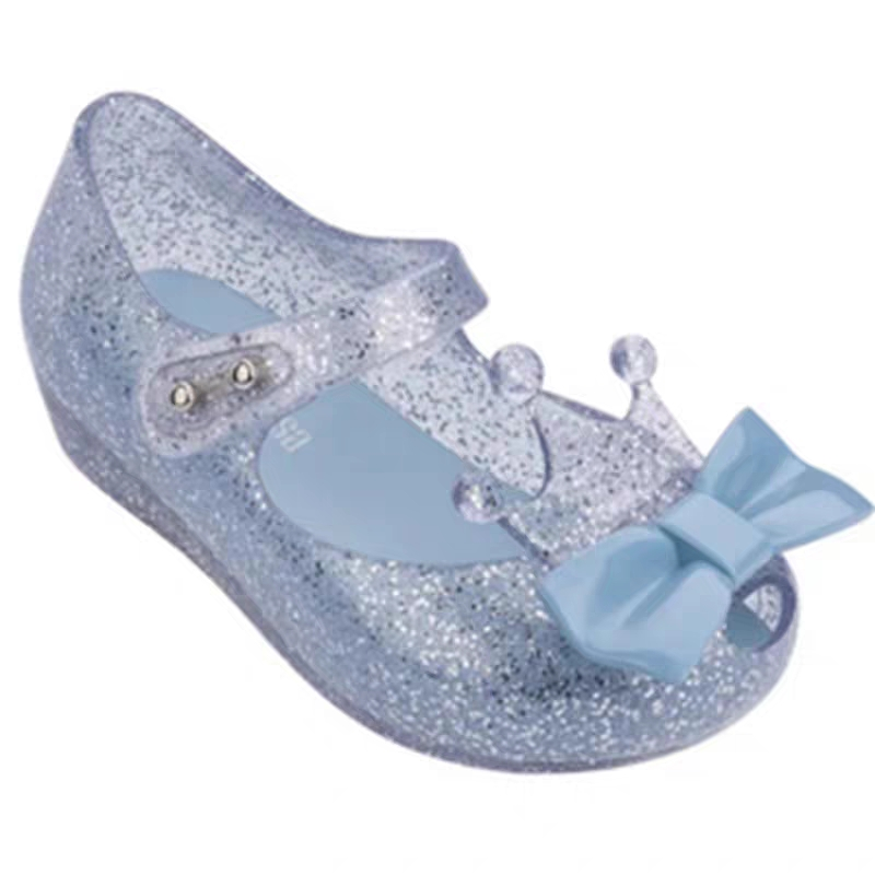 Mini Melissa 2020 Jelly Sandals Party Dance Shoes Crown Sandals Girl Fish Mouth Princess Sandals Comfortable Melissa Shoes