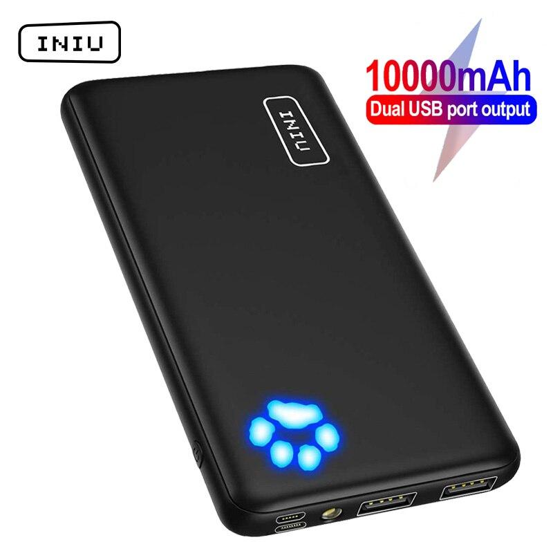 INIU Upgrade Power Bank 10000 мАч Dual USB 3A портативное зарядное устройство Powerbank Быстрая зарядка внешний аккумулятор для iPhone Xiaomi 9|Внешние аккумуляторы|   | АлиЭкспресс