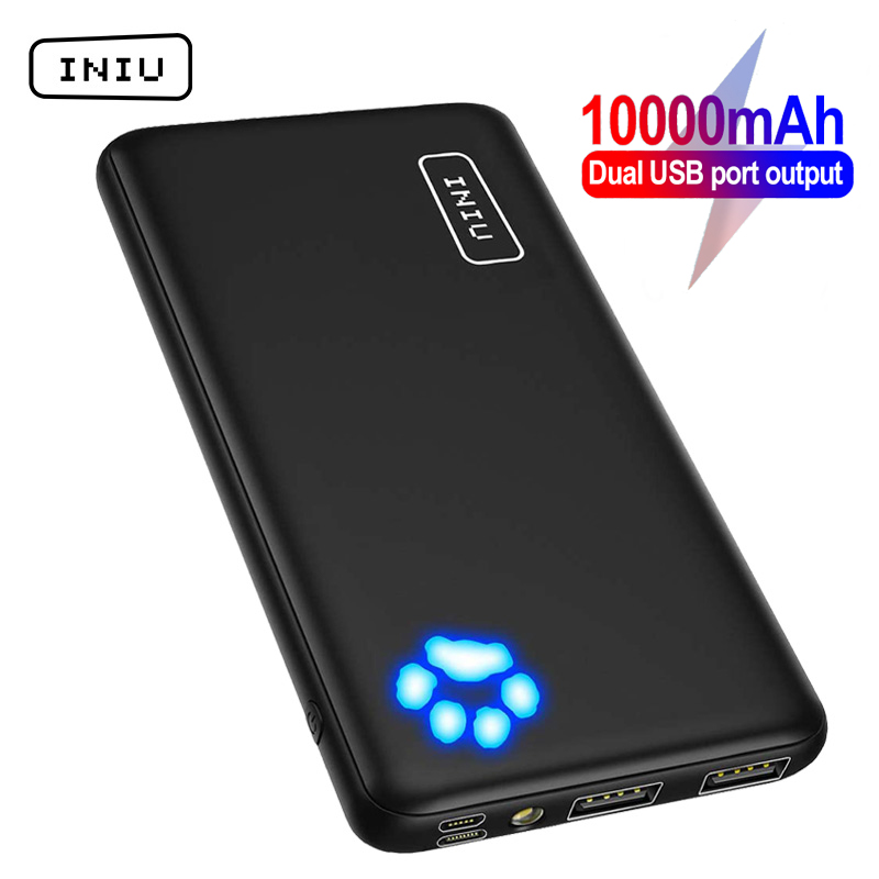 INIU Upgrade Power Bank 10000mAh Dual USB 3A Portable Charger Powerbank Fast Charging External Battery Pack For iPhone Xiaomi 9|Power Bank|   - AliExpress