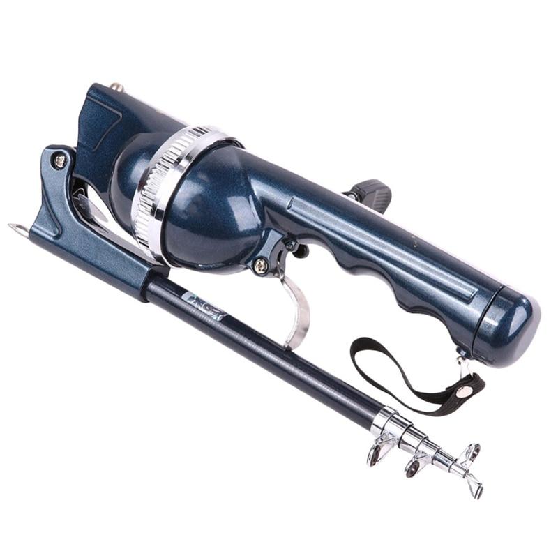 Spinning Rod And Reel Combo Fishing Pole Fiberglass Rods Metallic For Catfish