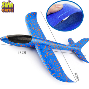 Image 3 - DIY Hand Throw 48cm Flying Planes toys For Children Outdoor Sports Foam Aeroplane Model Cyclotron Gliding Fly Boys Game Figure