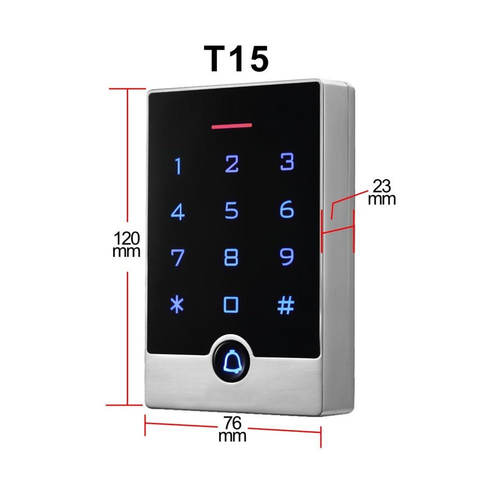 125Khz/ID Door Access Control ID/IC Card Reader Wiegand Interface ...