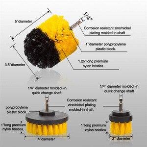 Image 4 - Juego de accesorios para taladro de neumáticos de coche, limpiador de cepillos de nailon, limpieza multiusos para lechada de cocina automática