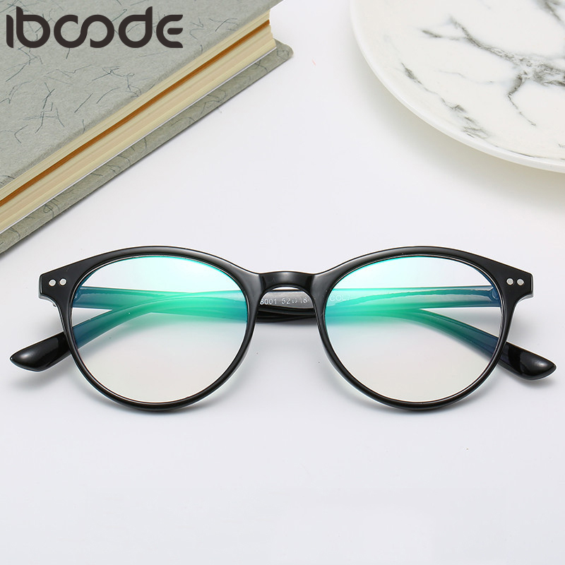 Iboode Finished Myopia Glasses Women Men Oval Frame Clear Lens Sighted Prescription Eyeglasses 0 -0.5 -1.0 -1.5 -2.0 To -6.0 New