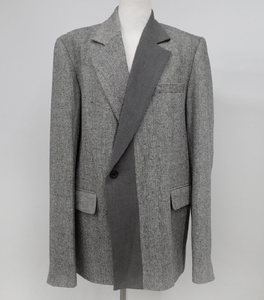 Image 4 - CHEERART Wool Blazer Designer Coat Women Blazers And Jackets Grey Patchwork Ladies Long Blazers Fashion Coat Autumn 2019