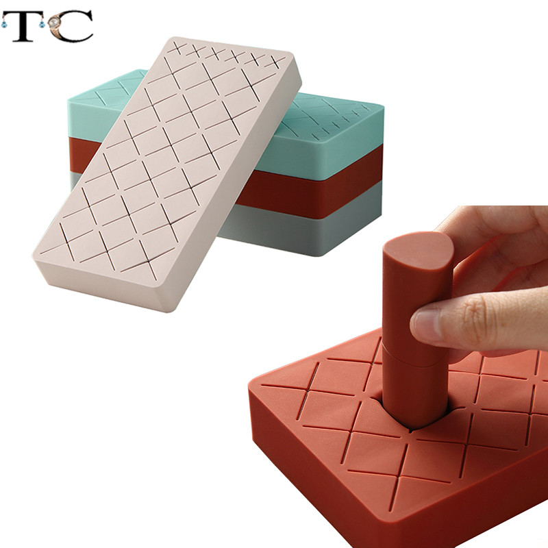 Silicone Storgae Box Lipstick Case Eyebrow Pencil Display Rack Makeup Brush Storage Box Cosmetics Tray