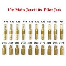 Main Jet Kit Carb Slow Pilot Durable Modification Motorcycle Carburetor Universal Anti-rust Injectors Lightweight #726