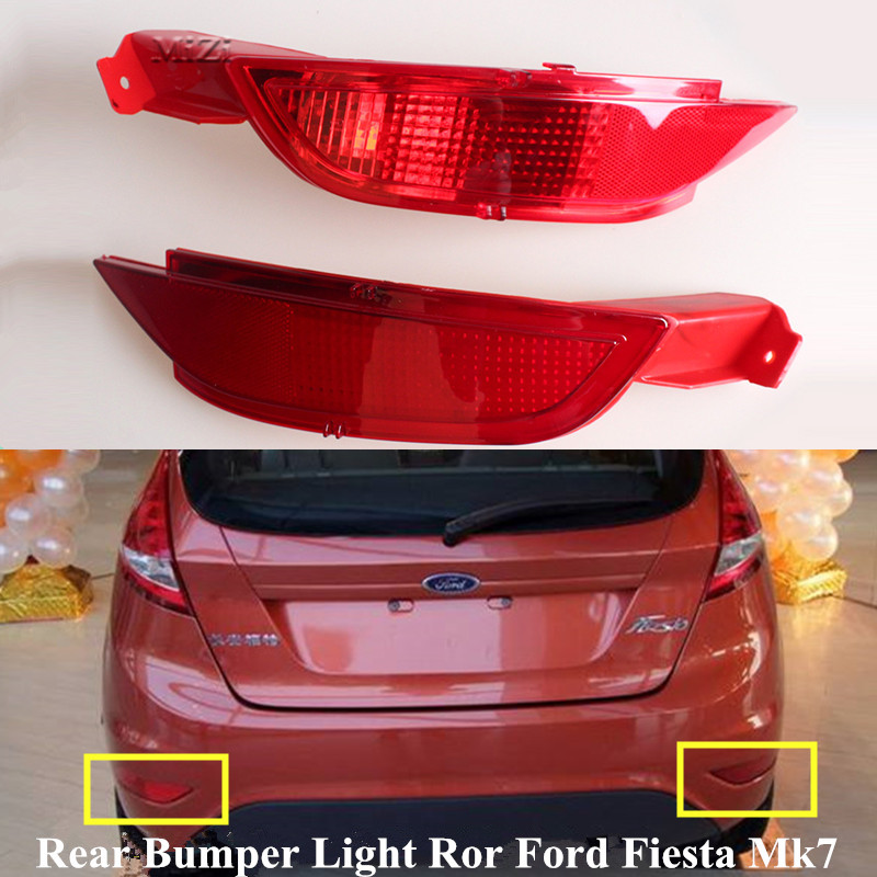 Задний бампер отражатель лампы стоп светильник для форд фиеста Mk7 2008 2009 2010 2011 2012 2013 2014 туман светильник с правой и левой