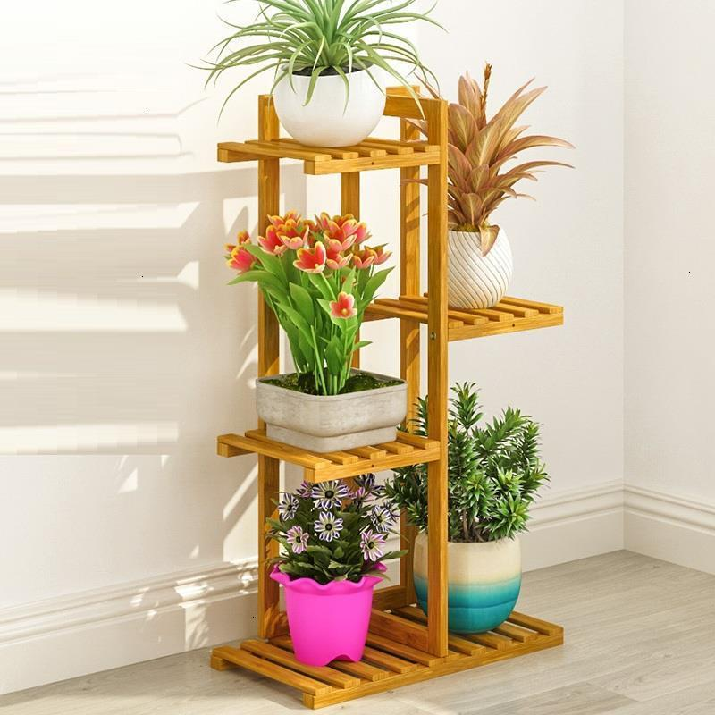 Wooden Shelves For Indoor Huerto Urbano Madera Plantenrekken Balcony Stojak Na Kwiaty Outdoor Flower Stand Rack Plant Shelf