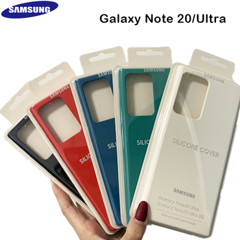 Original Samsung Liquid Soft Silicone phone Case Cover for SAMSUNG Galaxy Note 20 NOTE 20 Ultra SM-N985 Anti-knock Back Cover x level case for samsung galaxy note 10 original liquid silicone back phone cover for samsung note 10 plus case note10