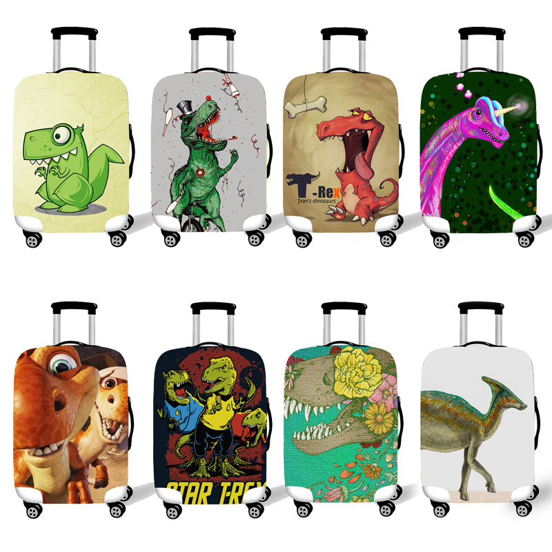 Elastic Luggage Protective Cover Case For Suitcase Protective Cover Trolley Cases Covers 3D Travel Accessories Dinosaur Pattern1