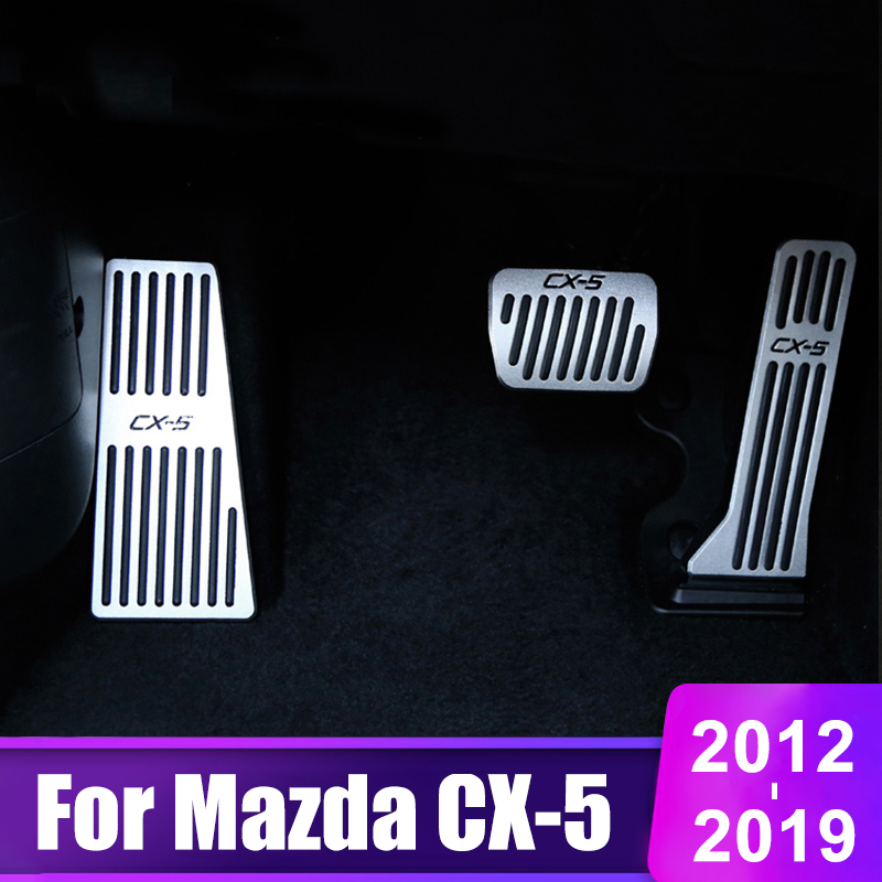 Car Accelerator Gas Pedal Brake Pedal Footrest Pedal Plate Cover AT For <font><b>Mazda</b></font> CX5 <font><b>CX</b></font>-<font><b>5</b></font> <font><b>CX</b></font> <font><b>5</b></font> 2013 2014 <font><b>2015</b></font> <font><b>2016</b></font> 2017 2018 2019 image