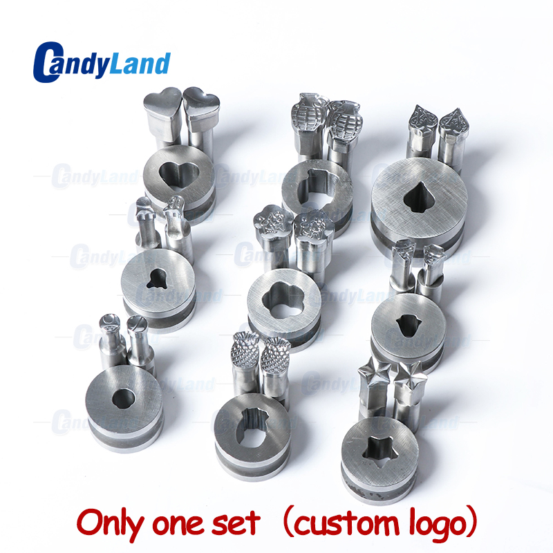 CandyLand Custom Logo Milk Tablet Die 3D Punch Press Mold Candy Punching Die Customized Design Die For TDP Machine