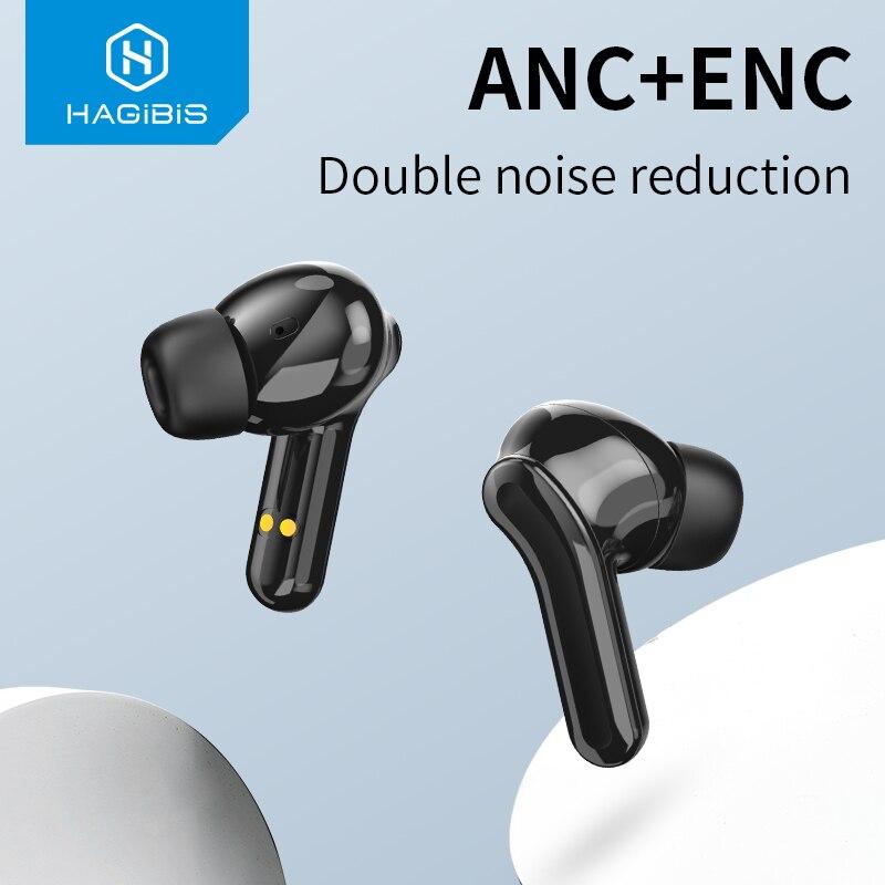 Habilis tws anc sem fio ativo cancelamento de ruído fones de ouvido bluetooth 5.0 enc à prova dwaterproof água estéreo handsfree gaming headset