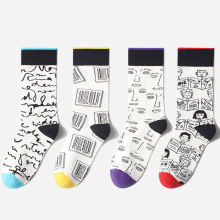 Woman Men Socks Cartoon Cute Funny Socks Graffiti  Kawaii Socks Women Creative Art Calcetines Divertidos Sox цены
