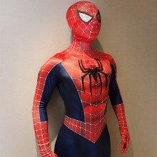 Человек-паук 3 Человек-паук raimi косплей костюм супергерой Zentai боди цельный зентай костюм взрослый человек Человек-паук комбинезон Комбинезоны