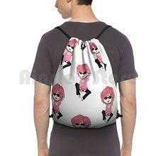Ayato-Yari-Bu Backpack Drawstring Bag Riding Climbing Gym Bag Yarichin Yaribu Yaoi Manga Bl Anime Cute Chibi Pink