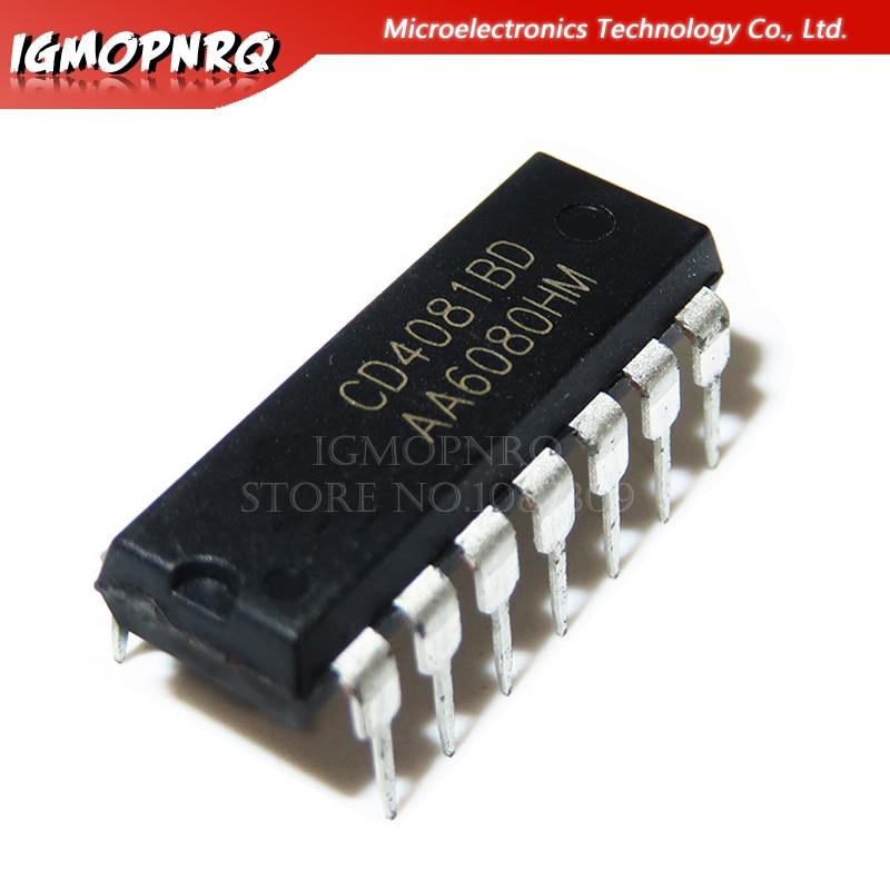 2pcs CD4081BE DIP14 CD4081 Quad 2 Input Or And Gate Original DIP-14 TI Chip IC