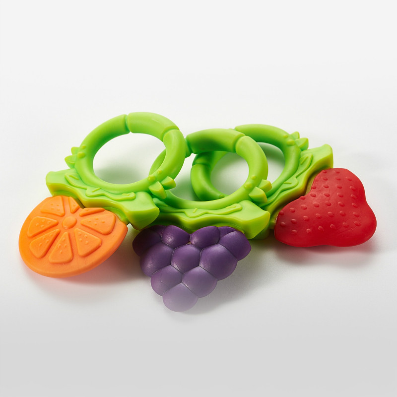 Baby Fruit Teether Baby Molar Stick Playing Mouth Fruit Silicone Bite Le Toys Gift Storage Box