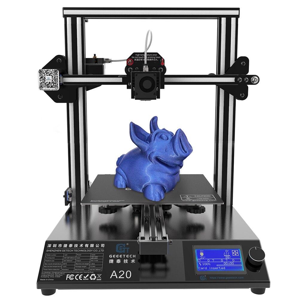 Geeetech A20 drukarka 3D z 255 × 255 × 255mm budować objętość i resuming zdolność, szybki montaż DIY kit