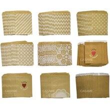 50 шт./лот лечения конфетная сумка высокого качества Вечерние пользу Бумага сумки шеврон брюки в горошек и полоску, печатные бумажные пакеты для рукоделия сумки пекарни