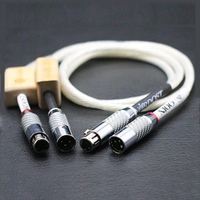 HI End Interconnect Audio Cable, Carbon Fiber XLR Balanced Male Female HIFI Cable,XLR Signal Wire