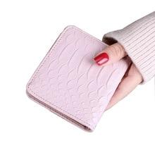 New crocodile striped purse female short-cut ultra-thin money clip mini-clip simple clasp zero wallet