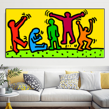2017 KEITH HARING Ohne Titel 1985 Original Pop ART -17 GICLEE poster print on canvas free shipping