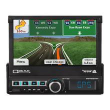 7 pollici di Navigazione Per Auto Motorizzato Pop Up Tirare Indietro Touch Screen di Navigazione Per Auto MP5 Player FM Radio Lettore Mp3 7110GM