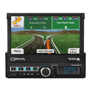 Image 1 - 7 אינץ לרכב ניווט ממונע פופ עד למשוך בחזרה מגע מסך לרכב ניווט MP5 נגן FM רדיו Mp3 נגן 7110GM