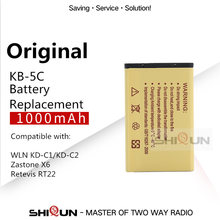 KB-5C Bateria Li-Ion 1000mAh para WLN KD-C1 KD-C2 KD-C10 KD-C50 KD-C51 KD-C52 Compatível RT22S RT15 NK-U1 X6 RT22 RT622 Bateria