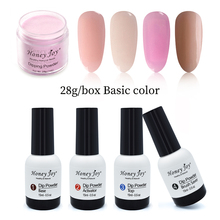 Очень тонкий 28 г/кор. чистый натуральный темно-розовый Dip порошок для ногтей погружение ногтей длительный не УФ-светильник лечение безопасный без запаха салонный эффект