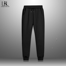 Long-Pants Jogger Thicken-Trousers Oversize Fitness Fleece Male Winter Man Casual Loose