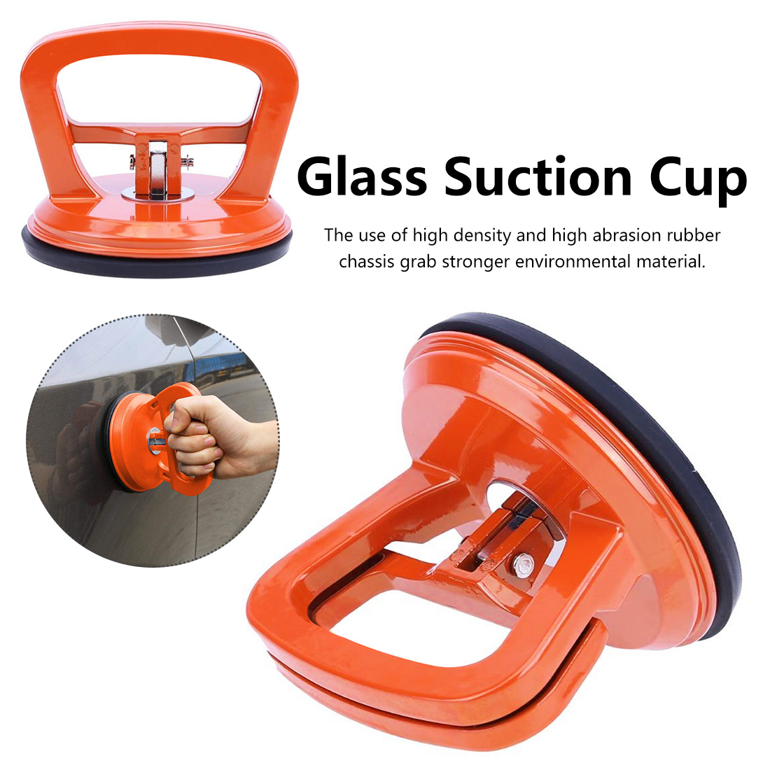 Plastic Orange Single Claw Glass Suction Cup Tile Suction Cup Anti-static Floor Car Body Repair Suction Cup