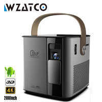 New Arrival WZATCO T12 3D Full HD 1080P 4K Projector Android WIFI HDMI USB DLP Smart Beamer Home Theater Portable Proyector