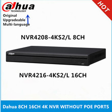 Сетевой видеорегистратор Dahua 4K NVR NVR4208-4KS2/L 8CH NVR4216-4KS2/L 16CH без портов PoE, максимальная поддержка 12mp ip-камеры