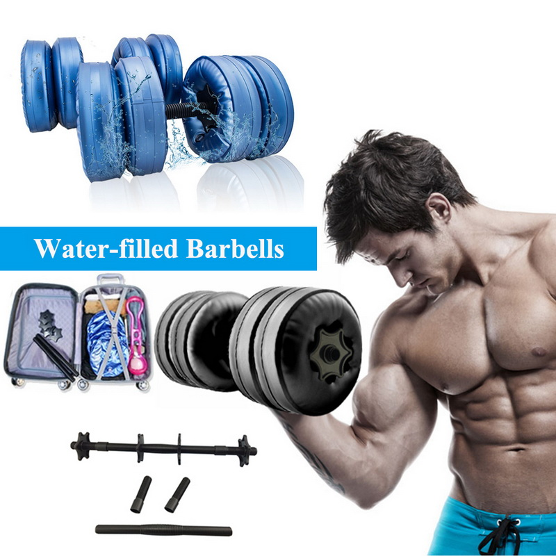 5-25 KG Fitness Water-filled Dumbbell Fitness Equipment Training Arm Muscle Fitness Adjustable Convenient Water Injection Dumbb