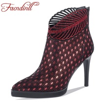 FACNDINLL sexy ankle boots for women high qulaity thin high heels pointed toe zipper shoes woman dress party riding boots 2019 facndinll women boots new fashion autumn winter square high heels pointed toe zipper shoes woman dress party riding ankle boots
